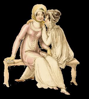 1810 Ackermann's Evening Promenade costumes sitting PS
