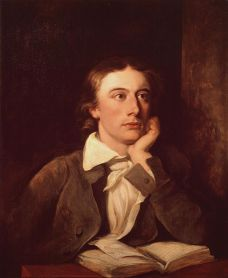 Portrait of John Keats by William Hilton, 1822..