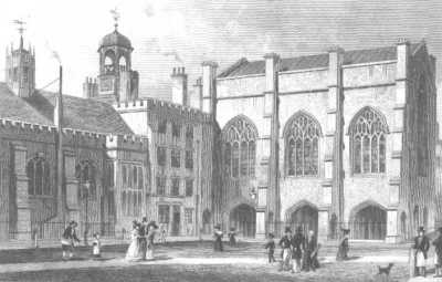 Lincoln's Inn (Old Hall, Chapel, and Chancery Court), 1830 by Thomas Shepherd.