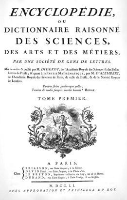 Encyclopedie Title Page