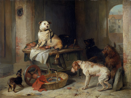 A Jack in Office by Edwin Henry Landseer