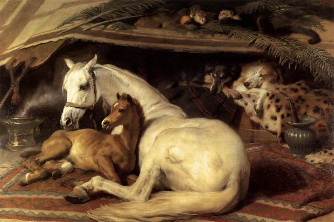 The Arab Tent by Edwin Henry Landseer, 1866.