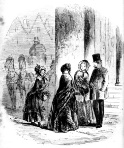 """The Little Old Lady by """"Phiz"""" (Hablot Knight Browne) for Bleak House, 1853. Image scan and text by George P. Landow."""
