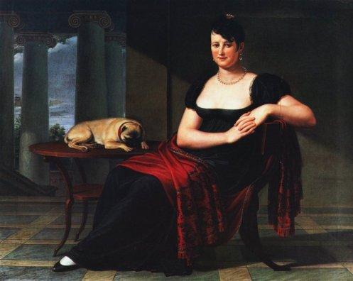 Pietro Benvenuti Ritratto di Elena Mastiani Brunacci 1809