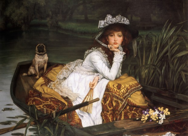 Young Lady in a Boat by James Tissot, 1870.