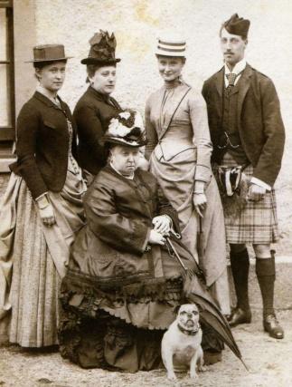 Royal Group at Balmoral, 1887.
