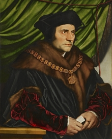 Sir Thomas More, portrait by Hans Holbein the Younger, 1527.