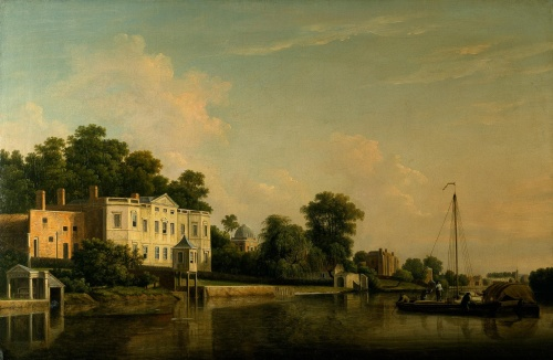 A View of Alexander Pope's Villa, Twickenham, on the Banks of the Thames, 1759.  by Samuel Scott, RA