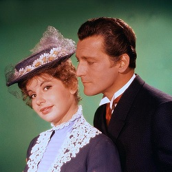 Johanna Von Koczian and Carlos Murphy as Arabella and Robert Beaumaris in Bezaubernde Arabella (Enchanting Arabella), 1955.
