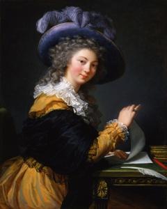 Lady Folding a Letter by Élisabeth Louise Vigée Le Brun