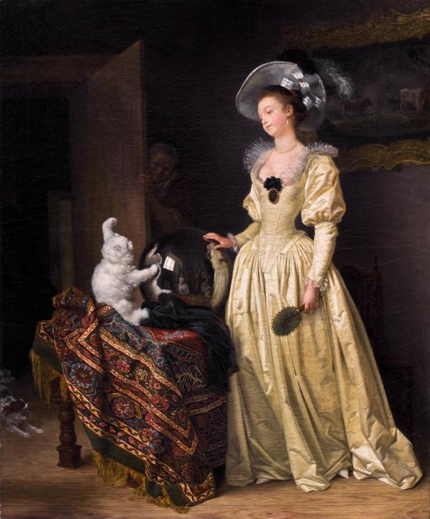 Le Chat Angora by Jean-Auguste Fragonard, (1732-1805).