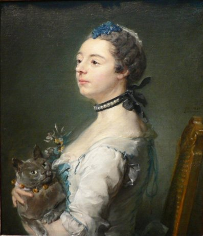 Magdaleine Pinceloup de la Grange by Jean-Baptiste Perronneau, 1746.