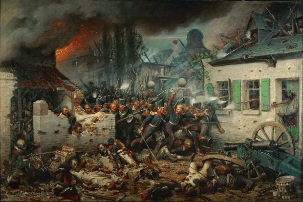 Prussian Attack Plancenoit by Adolf Northern 1863