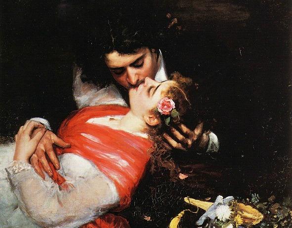 The Kiss by Carolus- Duran, 1868.