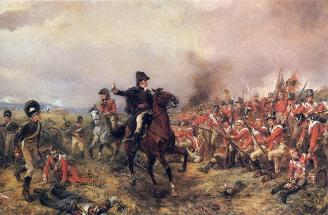 Wellington at Waterloo by Alexander Hillingford