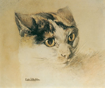 A Naturalistic Cat by Louis Wain, (1860 – 1939).