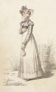 Ackermann's Print: Walking Dress, 1820.