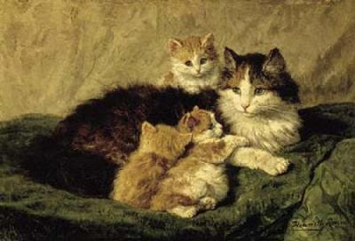Contentment by Henriette Ronner-Knip (1821-1909).