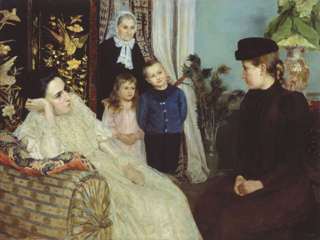 Employing a Governess by Emily Shanks, (1857-1936).