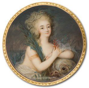 Marie Antoinette by Ignazio Pio Vittoriano Campana, 1780-5. (Watercolor on Ivory.)