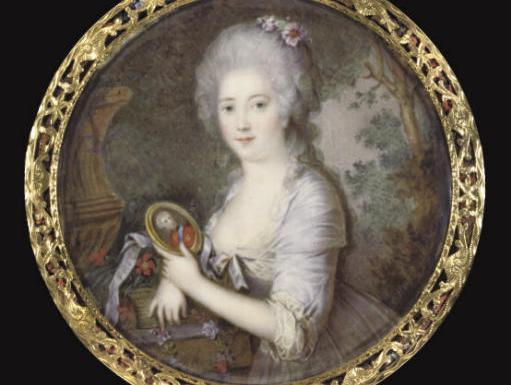 Miniature of Princess Frederikke of Denmark by Cornelius Hoyer, 1792.
