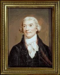 Miniature portrait of Noel Desenfans by Charles Hayter, 1810.