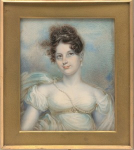 Mrs. Manigault Heyward by Robert Fulton, 1813.