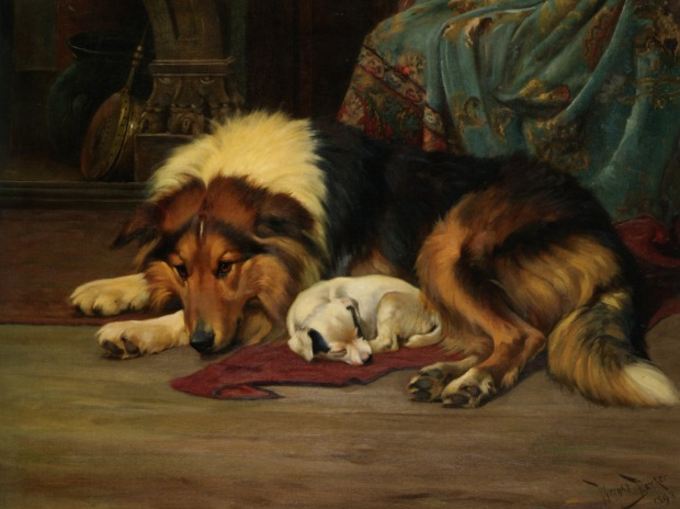 No Walk Today by Wright Barker, (1864–1941).
