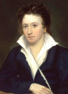 Percy Bysshe Shelley by Alfred Clint, 1819.