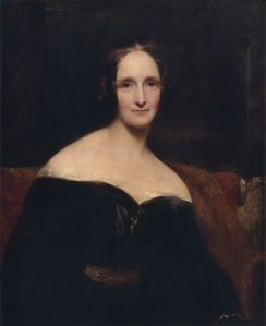 Portrait of Mary Shelley by Richard Rothwell, 1840.