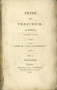 Pride and Prejudice, First Edition, 1813.