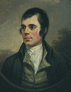 Robert Burns by Alexander Nasmyth, 1787.
