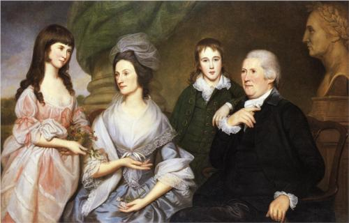 Robert Goldsborough and Family by Charles Willson Peale, 1787.