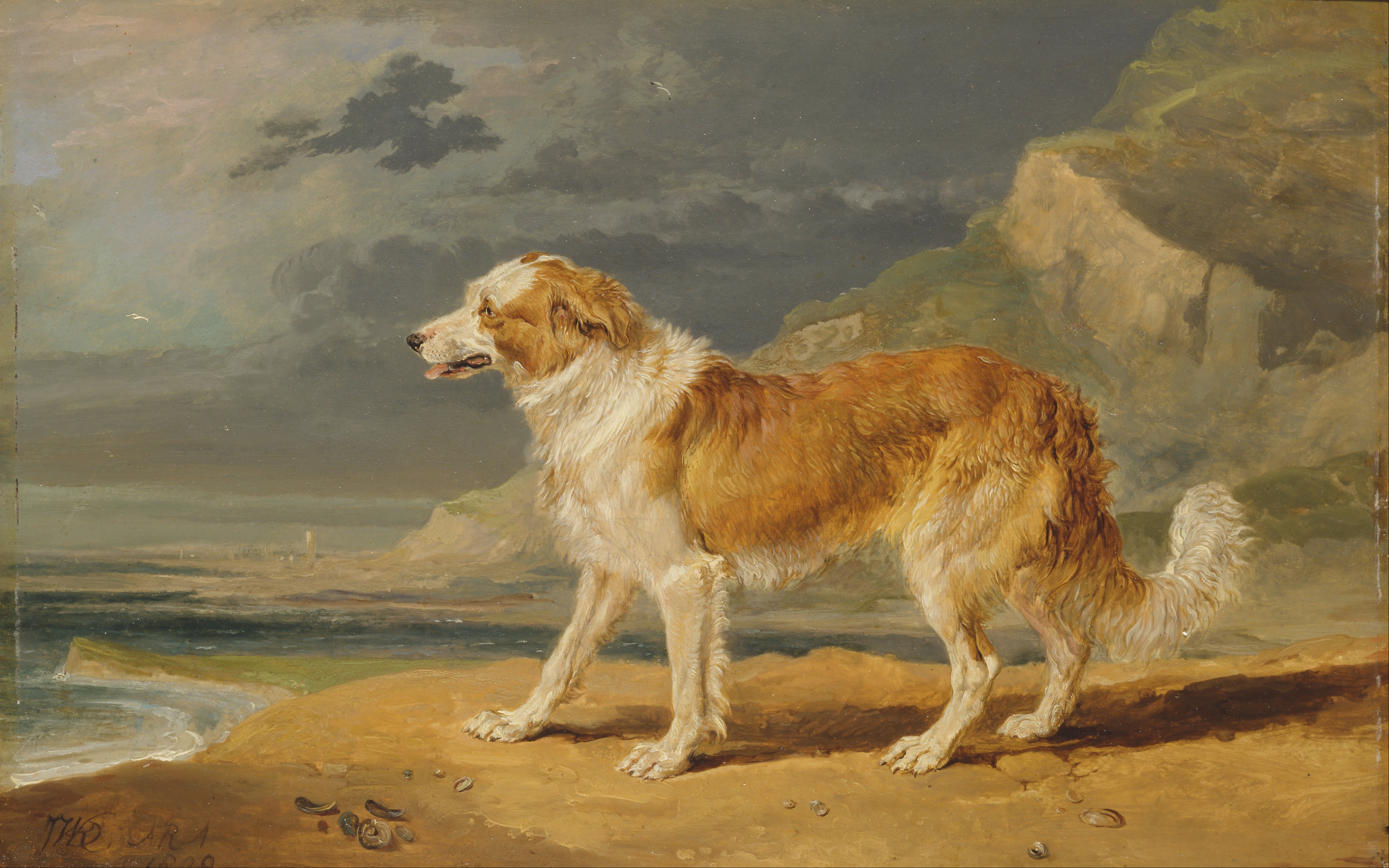 Chaucer robert burns and lassie the collie in for Painting of your dog