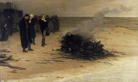 The Funeral of Shelley by Louis Edouard Fournier, 1889.