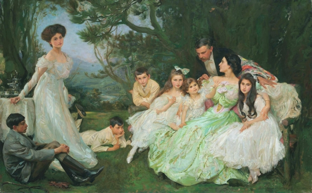The Golden Butterfly - The Harvey Family by John Henry Frederick Bacon, (1868-1914).