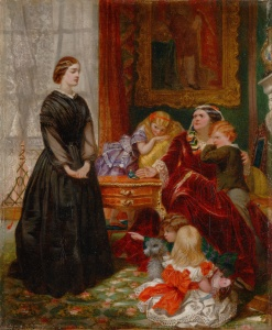 The Governess by Emily Mary Osborn, 1860.