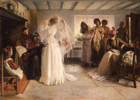 The Wedding Morning by John Henry Frederick Bacon, 1892.