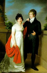 The Wedding portrait of Emilie und Johann Philipp Petersen Hamburg by Friedrich Carl Gröger, 1806.