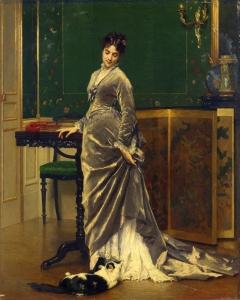 A Playful Moment by Gustave Léonard de Jonghe.