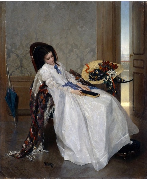 After a Walk by Gustave Léonard de Jonghe.