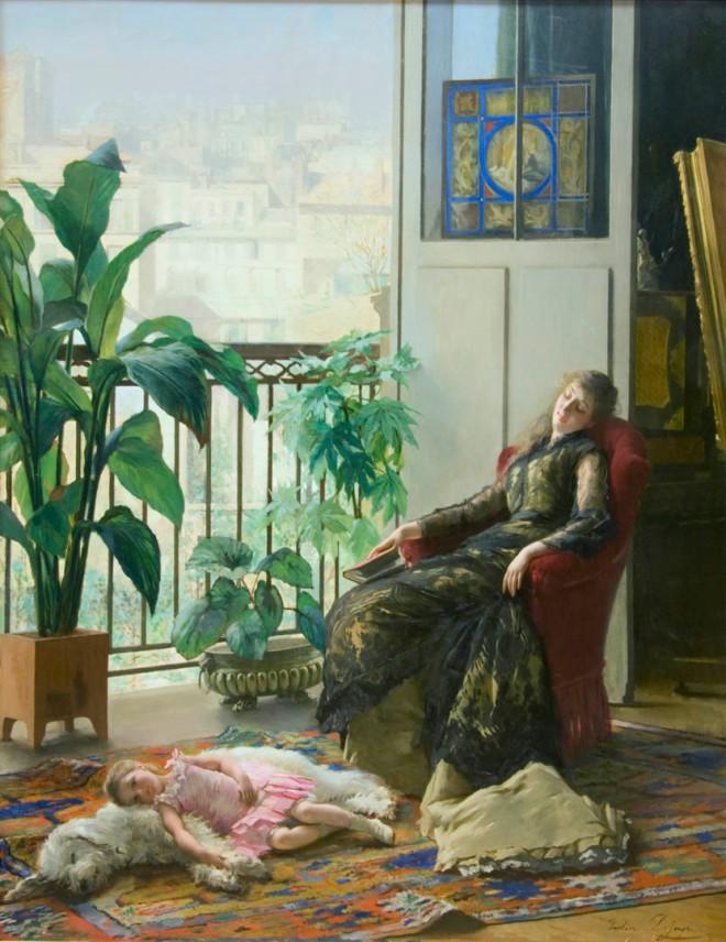 Afternoon Repose by Gustave Léonard de Jonghe.
