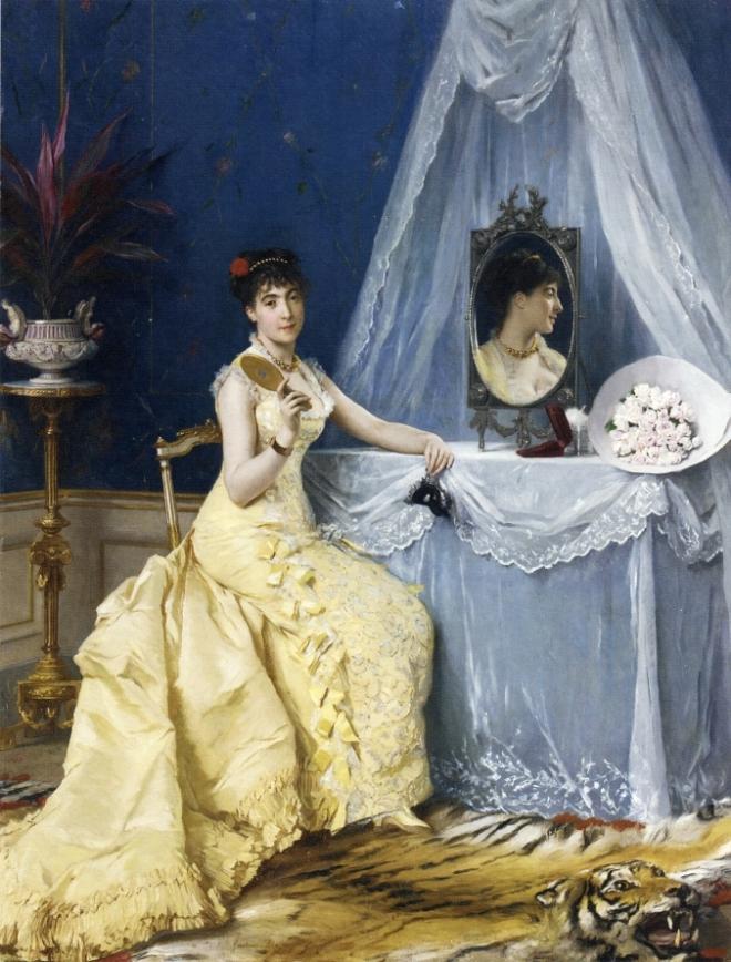 À la toilette by Gustave Léonard de Jonghe.
