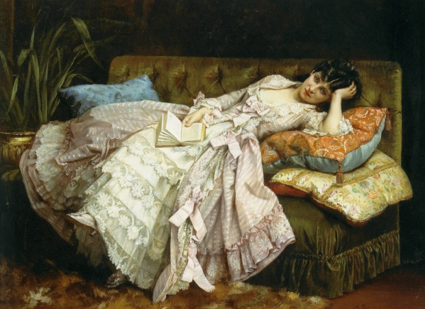 Dolce far Niente by August Toulmouche, 1876.