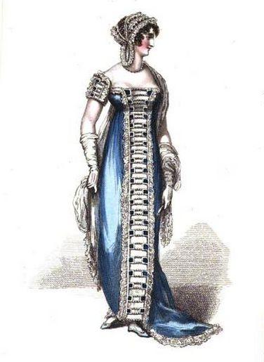 Evening Dress, La Belle Assemblée, June 1812.