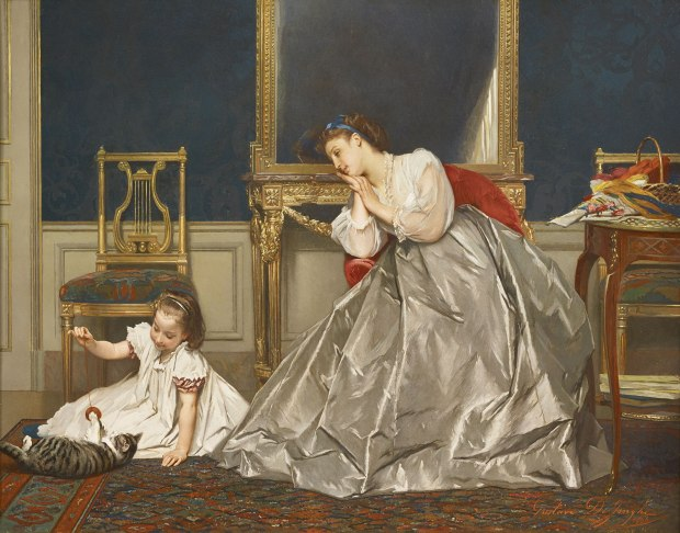 Game Time by Gustave Léonard de Jonghe.