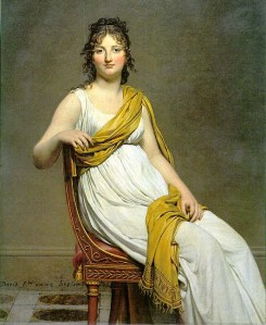 Portrait of Henriette de Verninac by Jacques-Louis David, 1799. (Possibly the origin of 'Hair a la Henriette.')