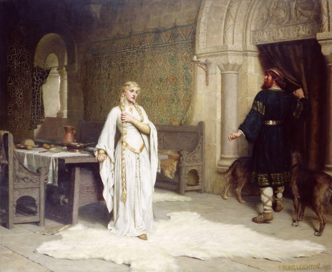 Lady Godiva by Edmund Leighton, 1891.
