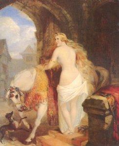 Lady Godiva by Marshall Claxton, 1850.