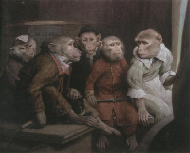 Last Picture Show by Gabriel von Max, 1840 – 1915.